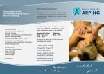 Flyer Physiotherapie Arping - Vorderseite